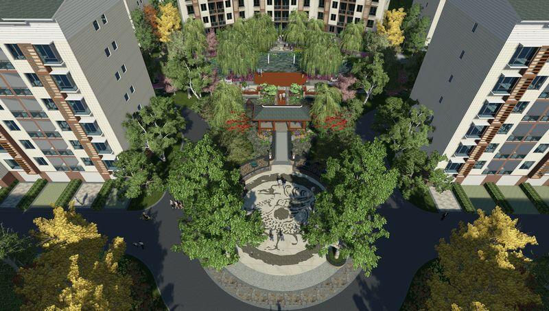设计,先进完善的配套设施,形成一个集居住,消闲,娱乐为一体的居住小区